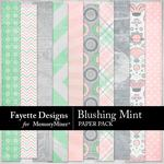 Blushing Mint Paper Pack-$3.99 (Fayette Designs)