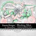 Blushing Mint Embellishment Pack-$3.99 (Fayette Designs)