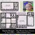Big Words Fancy Frames Emb Pack-$4.50 (Fayette Designs)