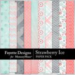 Strawberry Ice Paper Pack-$3.99 (Fayette Designs)