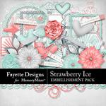 Strawberry Ice Embellishment Pack-$3.49 (Fayette Designs)