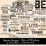 Bits of Wisdom WordArt Pack-$4.99 (Fayette Designs)