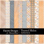 Toasted Melon Paper Pack-$3.99 (Fayette Designs)