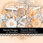 Toasted Melon Embellishment Pack-$3.99 (Fayette Designs)