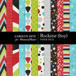 Rockstar Boy Paper Pack-$3.49 (Carolyn Kite)