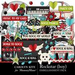 Rockstar Boy Embellishment Pack-$3.49 (Carolyn Kite)