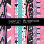 Rockstar Girl Paper Pack-$3.49 (Carolyn Kite)