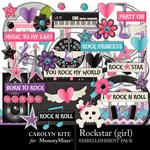 Rockstar Girl Embellishment Pack-$3.49 (Carolyn Kite)