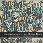 Fresh Morning Beauty Alphabet Pack-$3.49 (Jumpstart Designs)