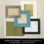 Cherished Family Memories Frames Pack-$2.49 (Word Art World)