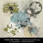 Cherished Family Memories Splatters Pack-$2.49 (Word Art World)