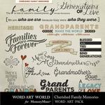 Cherished family memories word art small