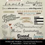 Cherished Family Memories Word Art Pack-$2.49 (Word Art World)