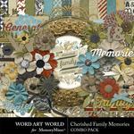 Cherished Family Memories Combo Pack-$4.99 (Word Art World)