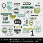 His Story Snippets Pack 2-$1.99 (Karen Lewis)