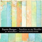 Sunshine on my Shoulder Hotmess Blended Paper-$3.99 (Fayette Designs)