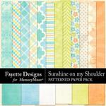 Sunshine on my Shoulder Patterned Paper-$3.99 (Fayette Designs)