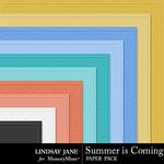 Summer is Coming Embossed Paper Pack-$1.99 (Lindsay Jane)
