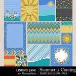 Summer is Coming Journal Cards-$1.40 (Lindsay Jane)