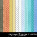 Summer is Coming Pattern Paper Pack-$1.40 (Lindsay Jane)