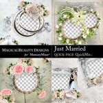 Just Married QuickPages 2-$3.99 (MagicalReality Designs)