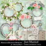 Just Married Clusters Pack 2-$2.00 (MagicalReality Designs)