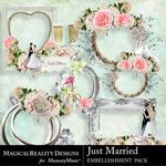 Just Married Clusters Pack 1-$2.00 (MagicalReality Designs)