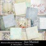 Just Married Paper Pack-$4.50 (MagicalReality Designs)