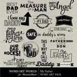 My Father WordArt Pack-$2.49 (Word Art World)