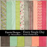 Every Single Day Basics Paper Pack-$3.99 (Fayette Designs)