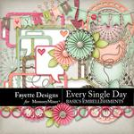 Every Single Day Basics Embellishment Pack-$3.99 (Fayette Designs)