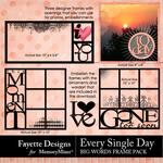 Every Single Day Big Words Fancy Frames-$2.80 (Fayette Designs)