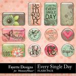 Every Single Day Flairs Pack-$3.99 (Fayette Designs)