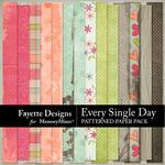 Every Single Day Patterned Paper Pack-$3.99 (Fayette Designs)