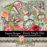 Every Single Day Embellishment Pack-$3.99 (Fayette Designs)