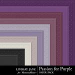 Passion for Purple Embossed Paper Pack-$1.99 (Lindsay Jane)
