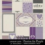 Passion for Purple Journal Cards-$1.99 (Lindsay Jane)