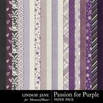 Passion for Purple Paper Pack-$2.49 (Lindsay Jane)