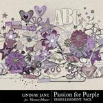 Passion for Purple Embellishment Pack-$3.49 (Lindsay Jane)