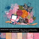 Blue Jeans and Butterflies Combo Pack-$4.99 (Laura Burger)