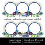 Proud As A Peacock FREE Cluster Frame-$0.00 (Carolyn Kite)
