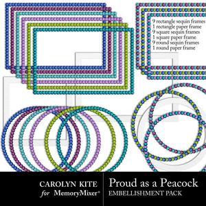 Crk peacock sequinframes small medium