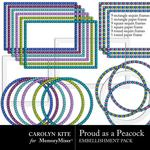 Proud As A Peacock Frame Pack-$2.49 (Carolyn Kite)