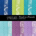 Proud As A Peacock Paper Pack 2-$3.49 (Carolyn Kite)