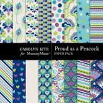 Proud As A Peacock Paper Pack 1-$3.49 (Carolyn Kite)