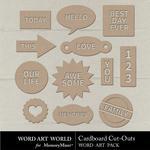 Cardboard CutOuts Pack-$2.49 (Word Art World)