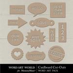 Cardboard CutOuts Pack-$2.49 (Word Art World)