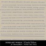 Clearly Vellum Pack-$2.49 (Word Art World)