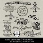 Words Matter WordArt Pack-$2.49 (Word Art World)