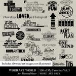 100 of My Favorites Vol 5 WordArt Pack-$5.99 (Word Art World)